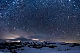 Starry, wintry night